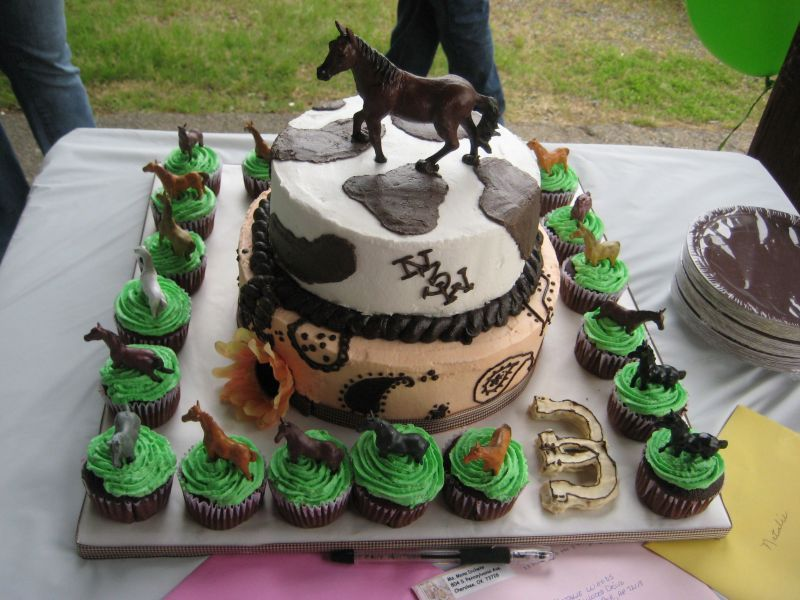 this gives us an ideal how to create our horsecake for a fundraiser