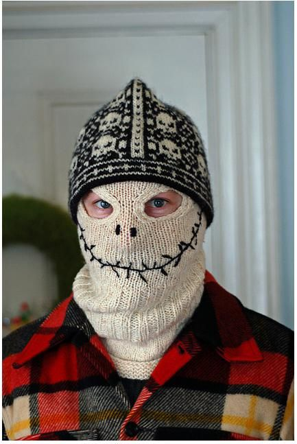 Skeleton_knitted_balaclava | Crochet and Knit | Pinterest ...
