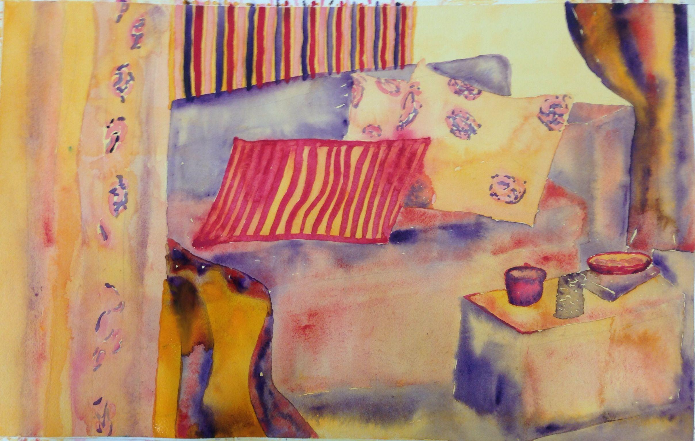 Interior watercolor by Al_Chez