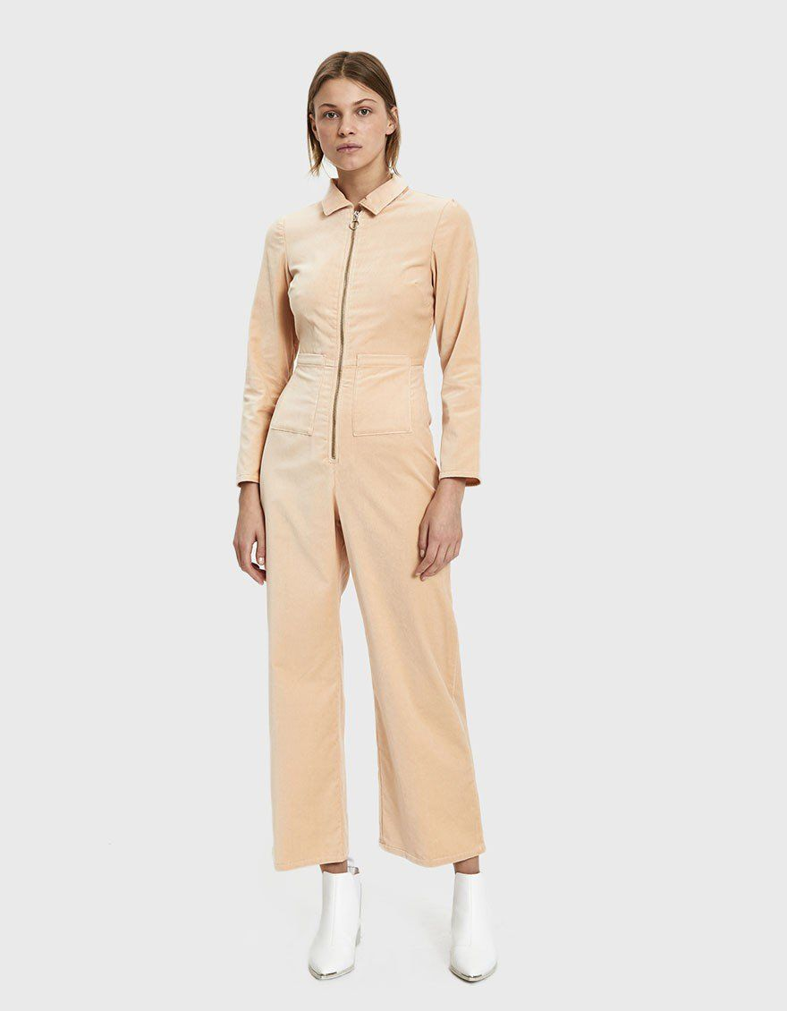 cb52e5633b8 Paloma Wool   Paufi Velvet Jumpsuit in Soft Pink