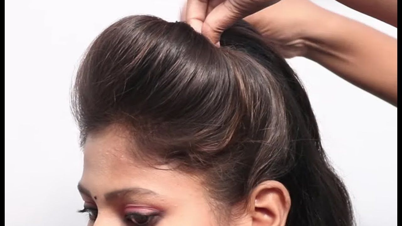 Easy Puff Hairstyle  How to Put Pins for Puff Hairstyles  สอน