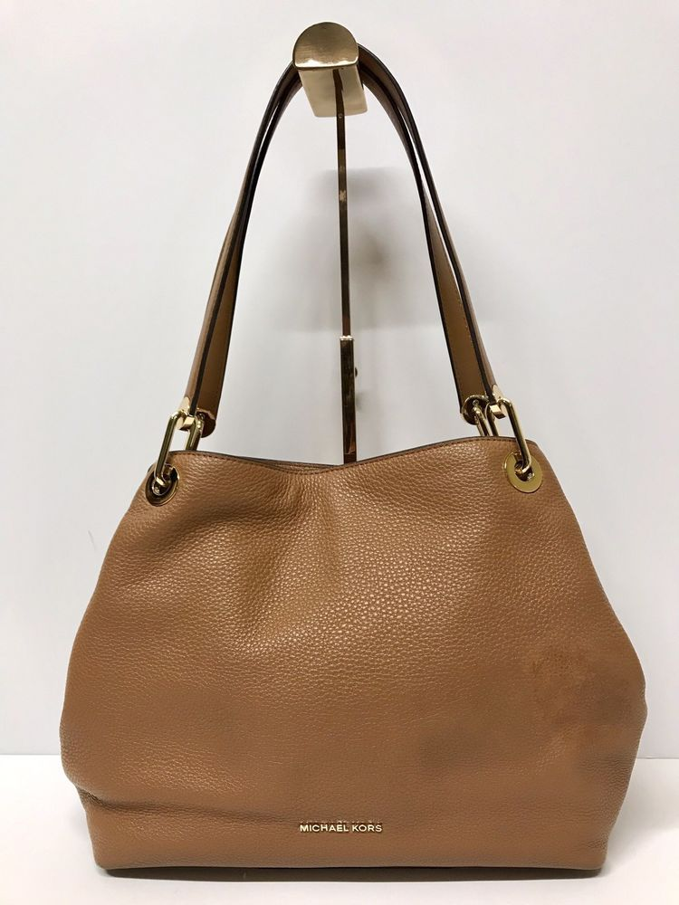 c0b0b7da326 Michael Kors Acorn Raven Large Leather Shoulder Tote Bag  fashion  clothing   shoes