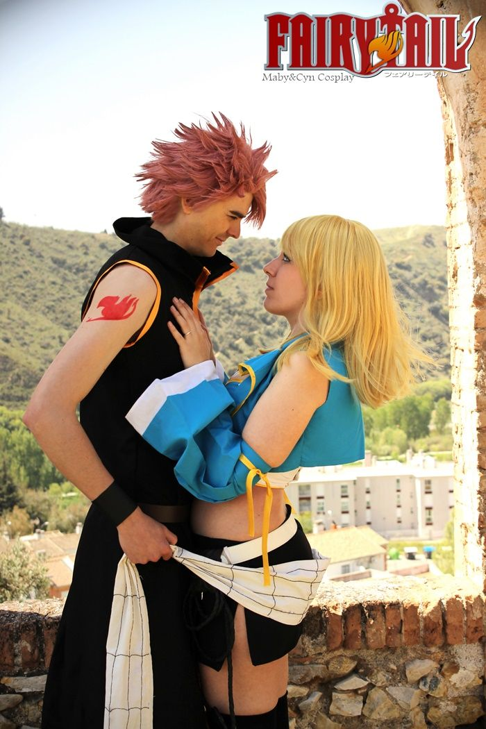 Fairy tail cosplay lucy and natsu