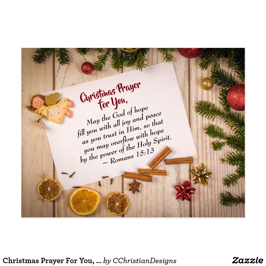 Christmas Prayer For You May The God Of Hope Postcard Zazzle Com Merry Christmas Wishes Quotes Merry Christmas Images Merry Christmas Wishes