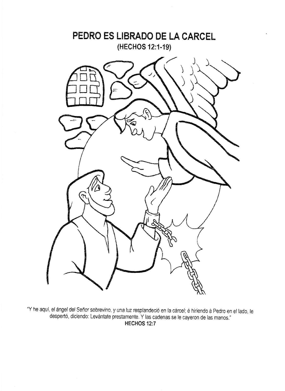 Resultado de imagen para pedro y un angel para coloreAR