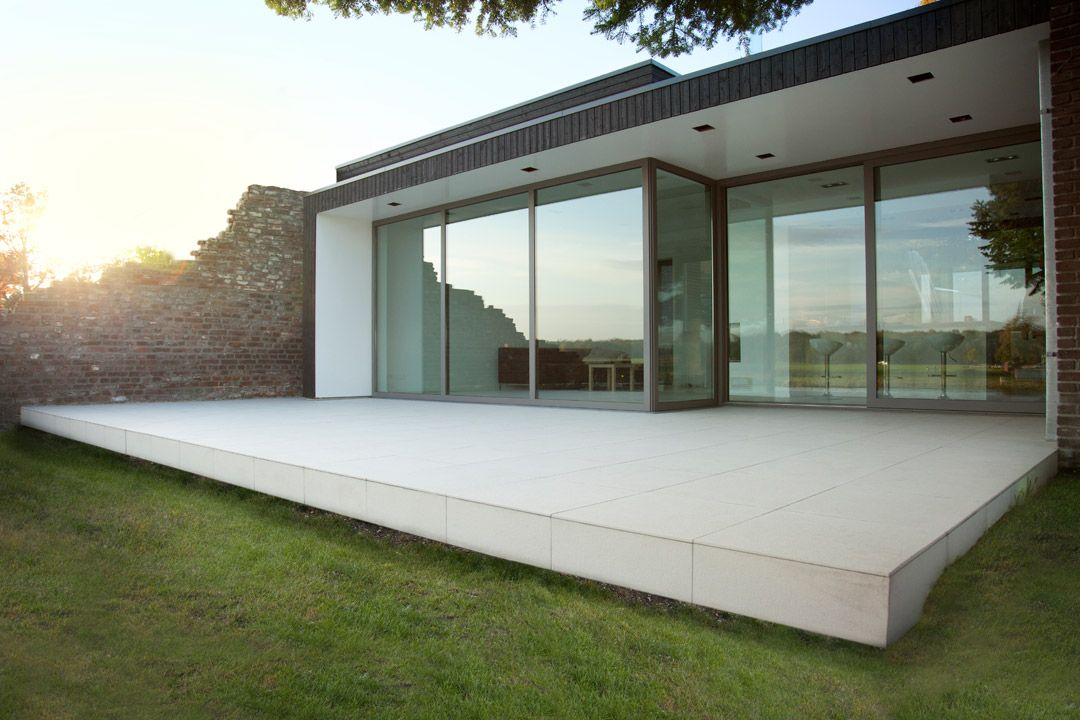 Open uitbouw keuken for Moderne stijl gevel