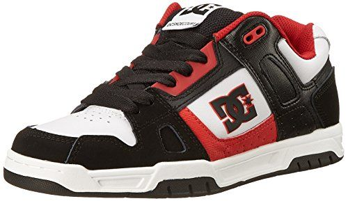 "DC Men's Stag Sneaker   DC Men's Stag Sneaker Stag Low Shoes for men from DC Shoes. The Stag's features include foam padded tongue and collar for more cushion and protection, cupsole construction offers a sturdier shoe with more protection, DCs trademarked ""pill pattern"" tread on outsole gives better grip and a composition of Upper: Leather / Lining: Textile / Outsole: Rubber.  http://www.athletcshoes.com/dc-mens-stag-sneaker-3/"