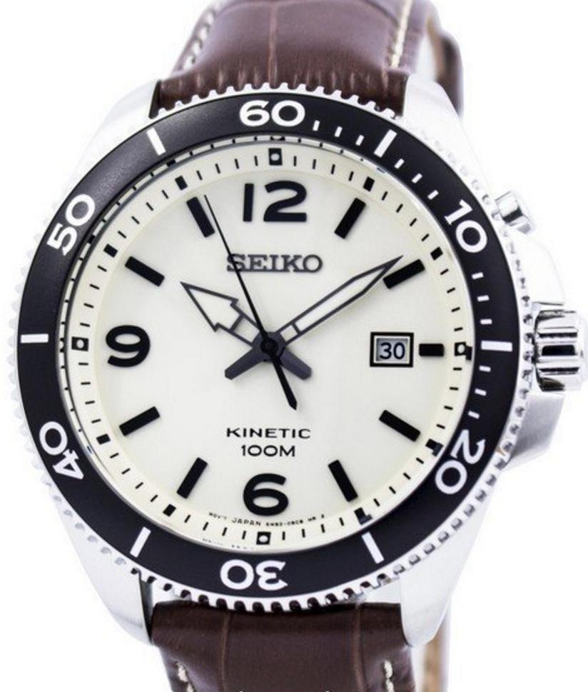 Seiko kinetic mens watch skap