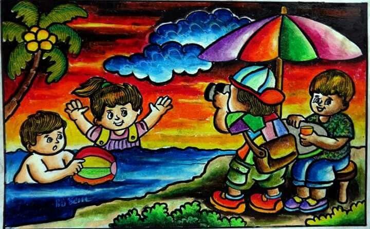 Gambar Crayon Seni Krayon Buku Gambar Lukisan Pensil Warna
