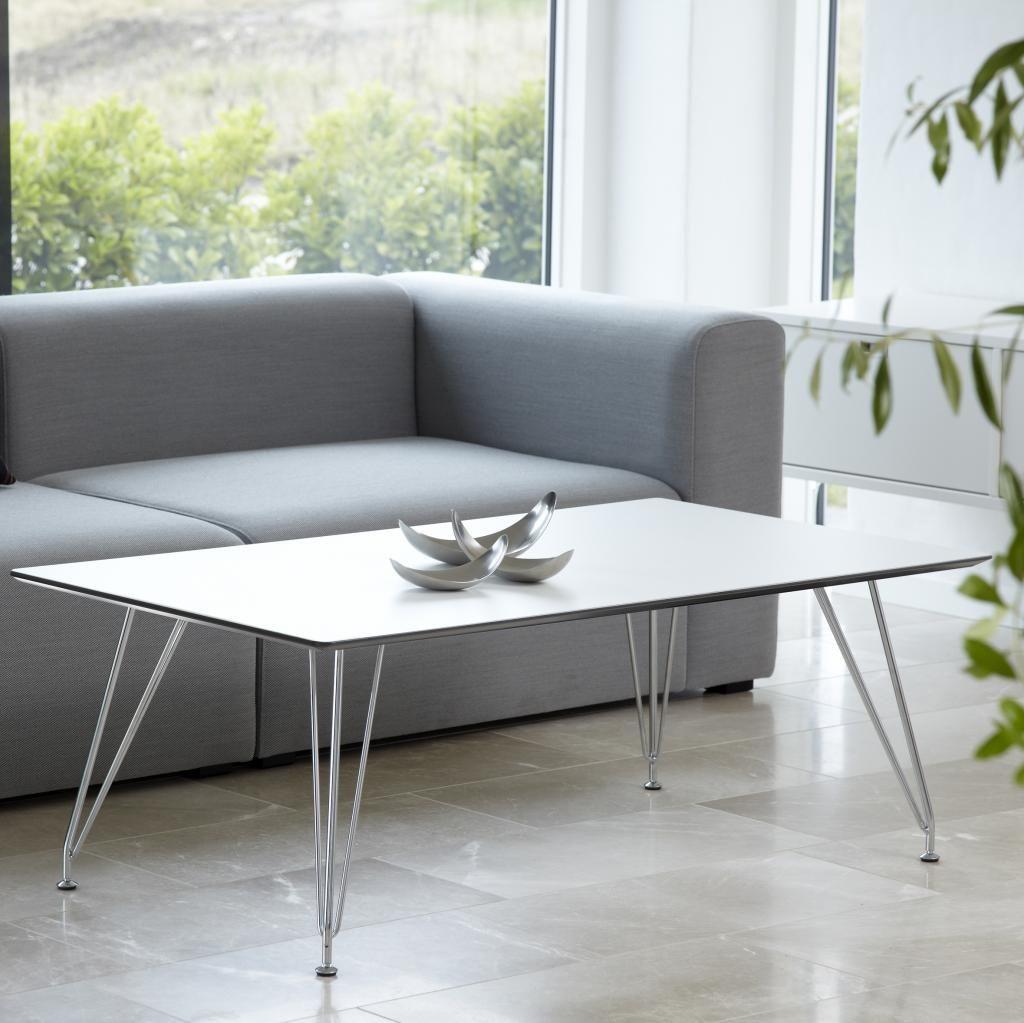 DK10 Sofabord Hvid,Design: Ditlev Karsten. Andersen Furniture.
