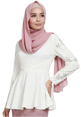 PREMIUM Kalila Embellished Sleeve Blouse from Poplook in white 1 ... 1a63fabf74
