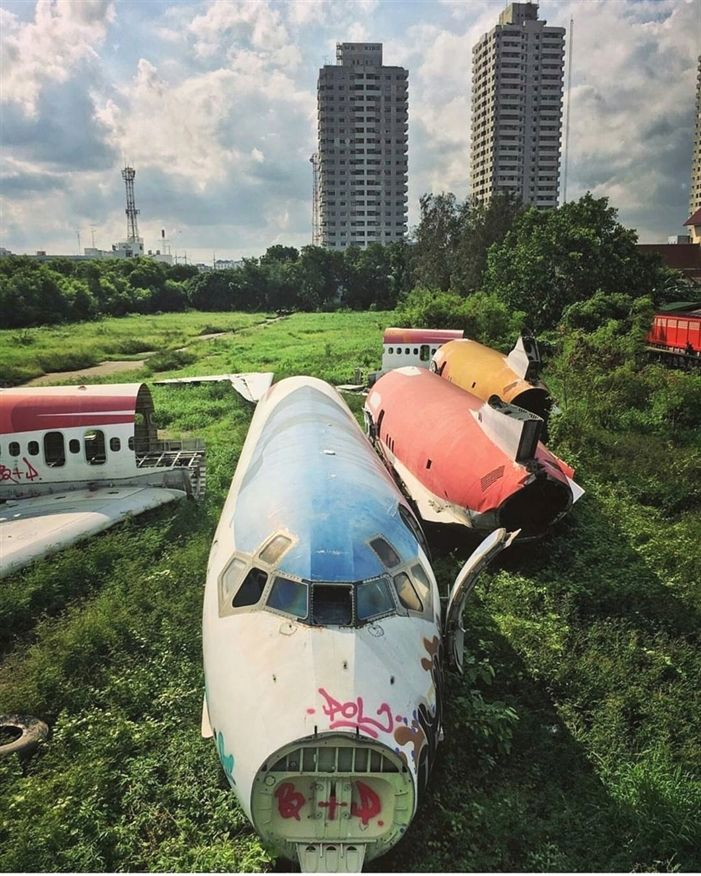 Abandoned Planes In Bangkok. Now Used As Homes