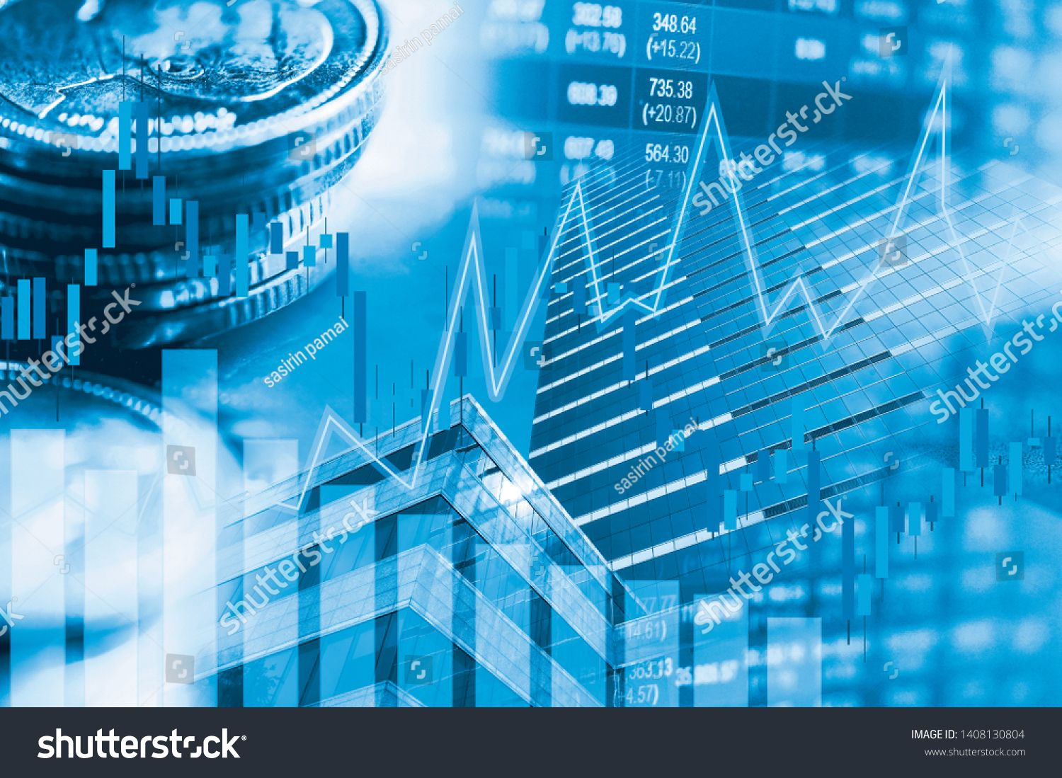 Stock Market Investment Trading Financial Coin And Graph Chart Or Forex For Analyze Profit Finance Business Tren Stock Market Stock Market Investing Investing