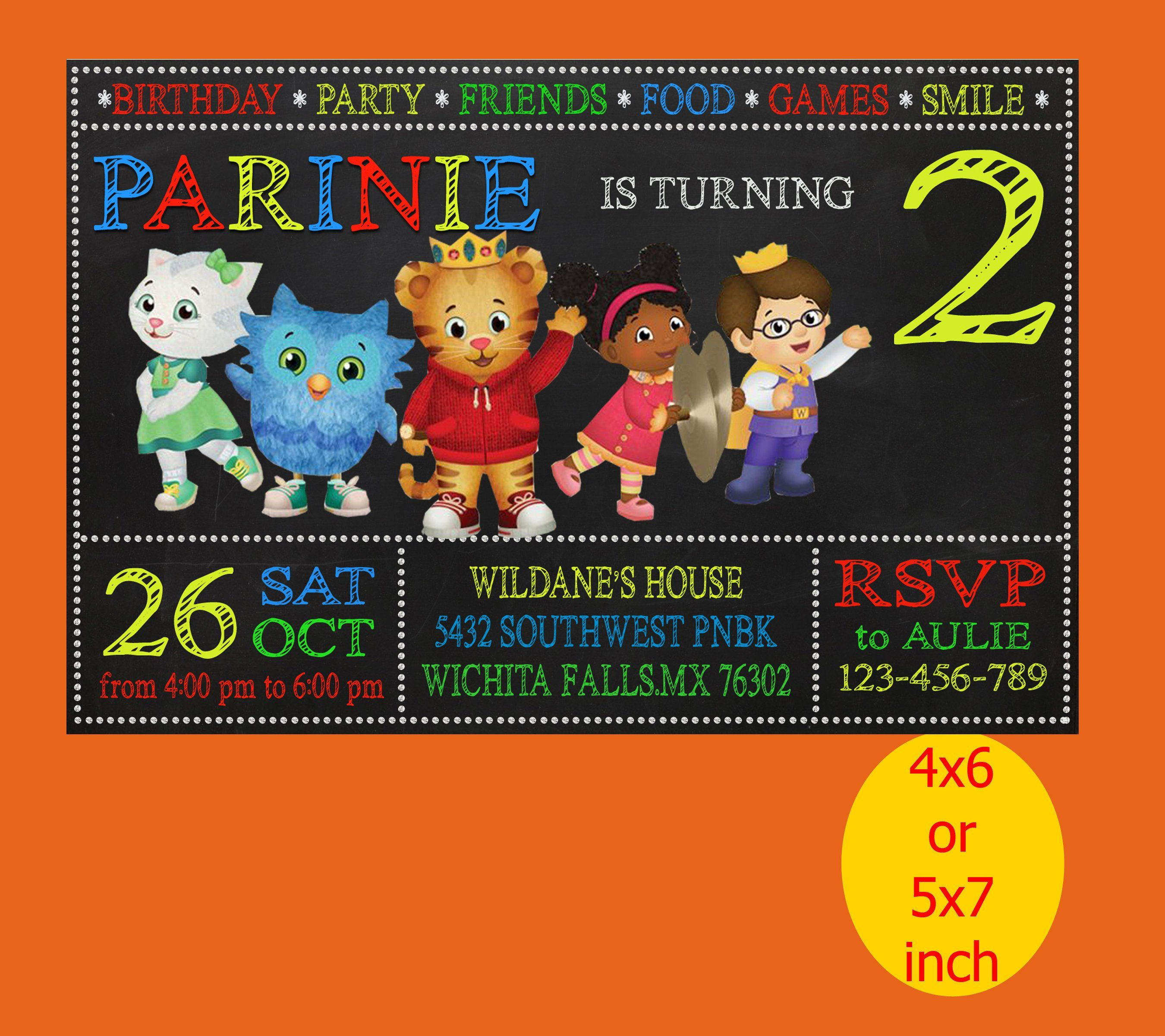 Daniel Tiger Birthday Invitation Party Printable Instant Download By InayahlayinaART On Etsy