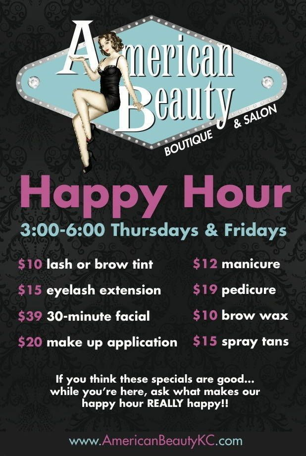 American Beauty Shop Fauna Salon Promotions Salon Marketing Beauty Salon