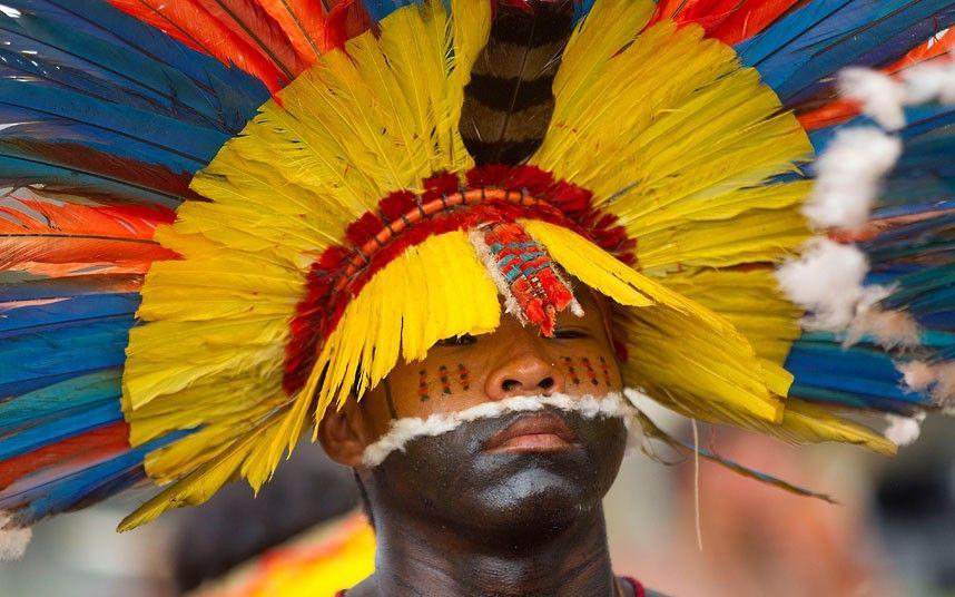 Environment Brazil protests, Brazil, Native american