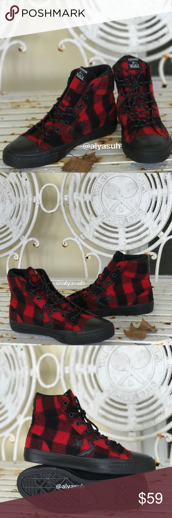 3356c8702492 Converse Woolrich Ctas Player Black Red WMNS Brand new with box. Price is  firm!