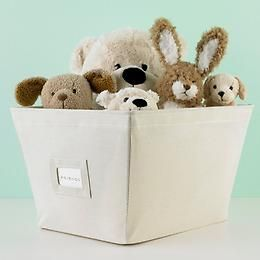Open Canvas Bins For Stuffed Animals And Book Shelf Storage Bins Fabric Storage Bins Container Store