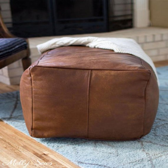 Strange Square Ottoman Square Pouf Brown Light Tan Handmade Uwap Interior Chair Design Uwaporg