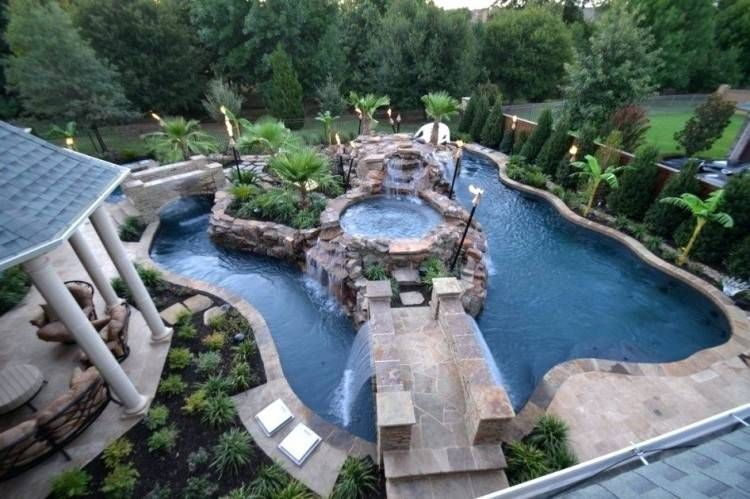 Pool Designs For Large Backyards | Backyard lazy river ...