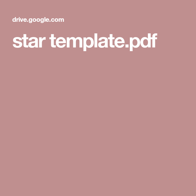 star template pdf sabbath school pinterest star template and