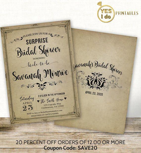 surprise bridal shower invitation surprise shower invites