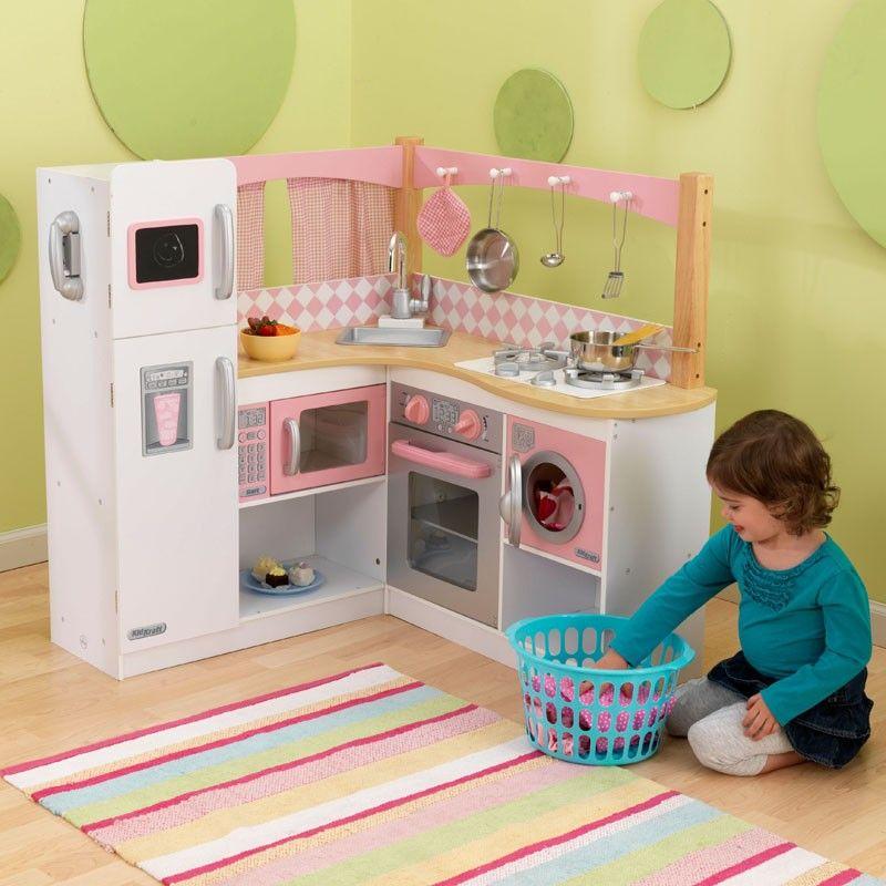 Cocina de juguete de madera para esquina modelo Gran