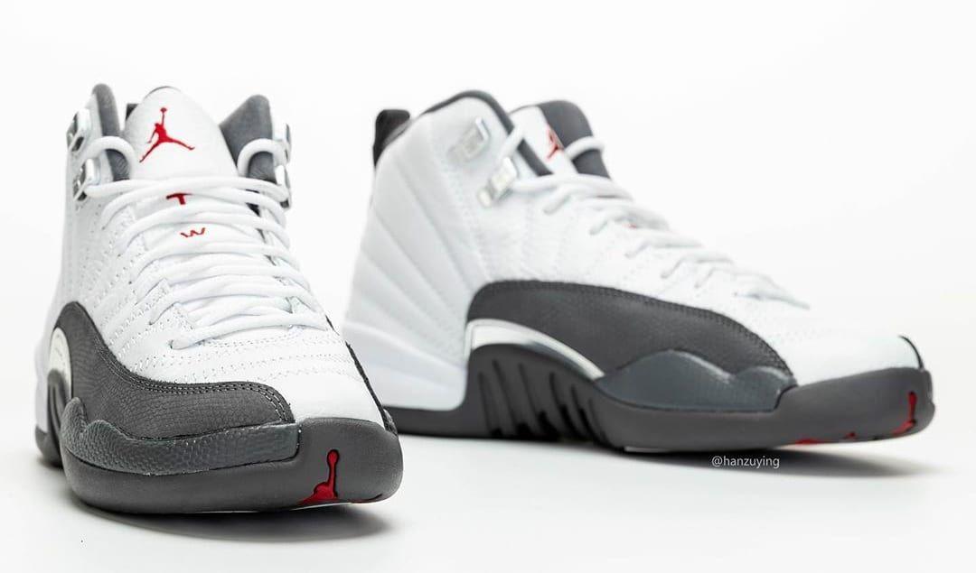 Air Jordan 12 Retro 'White/Dark Grey