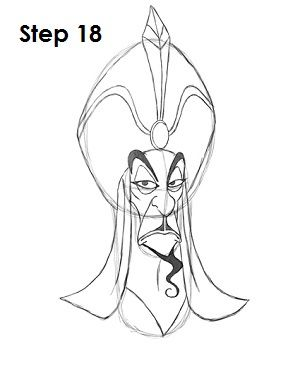 How To Draw Jafar Disney Character Sketches Disney Character