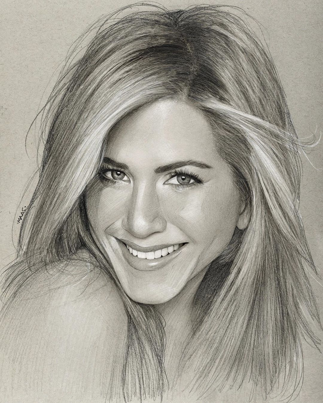 Happy Birthday Jenniferaniston One Of My Favourites To Draw Here S Some Of The Portraits Ive D In 2020 Charcoal Drawing Tutorial Charcoal Drawing Celebrity Drawings