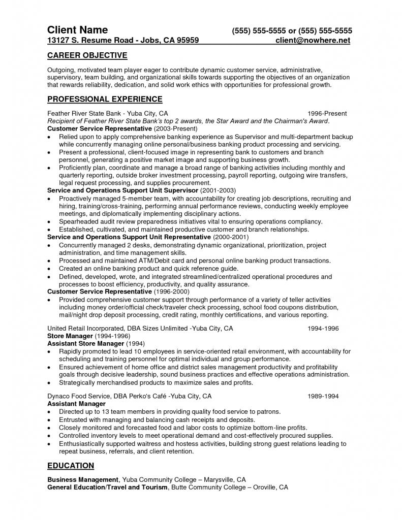Csr Resume For Bank Customer Service Skills Example Representative Teller Samples Cover Letter Resume Examples Resume Functional Resume Template