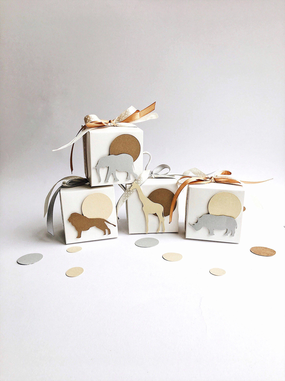 Safari Favor Boxes Safari Theme Boy Baby Shower Gift Favor
