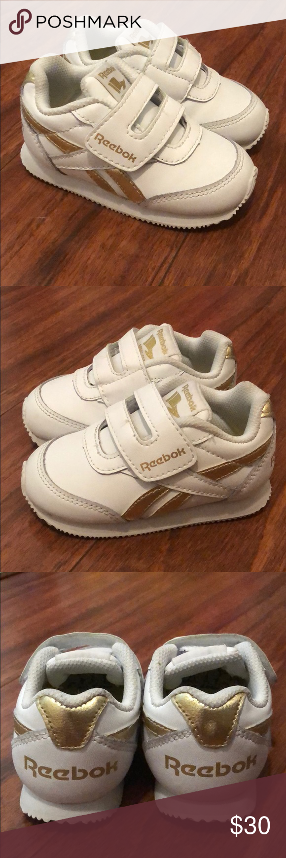 5d15f31640a Classic Reebok Peek N Fit Ortholite Kids Used many times! Great walking  shoes! Clean and in good condition. Infant size 5 Reebok Shoes Sneakers