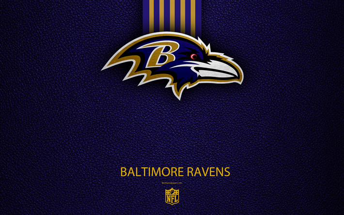Download Wallpapers Baltimore Ravens 4k American Football Logo Emblem Maryland Usa Nfl Blue Leather Texture National Football League Northern Division Baltimore Ravens Nfl Usa Baltimore Ravens Wallpapers