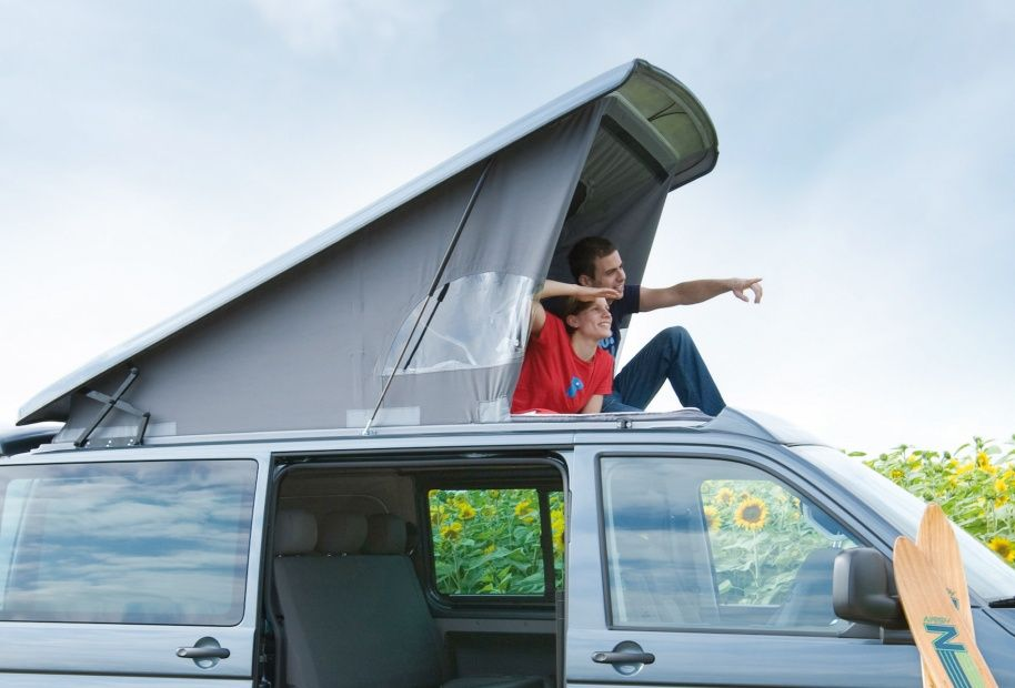 Vw T5 Spacecamper Classic Pop Top With Roof Light And