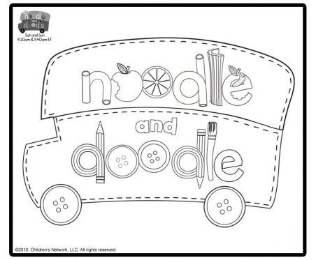 noodle and doodle bus noodle and doodle coloring pages for kids sprout