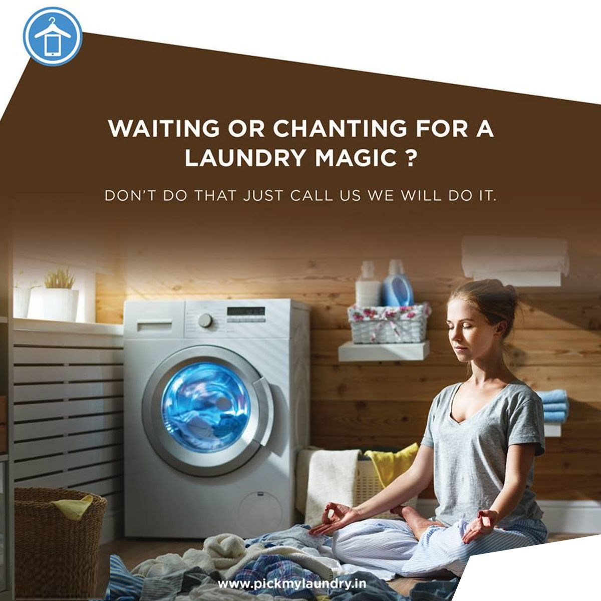 Magic Chants Wont Works On The Laundry Just Call Us We Will Do It