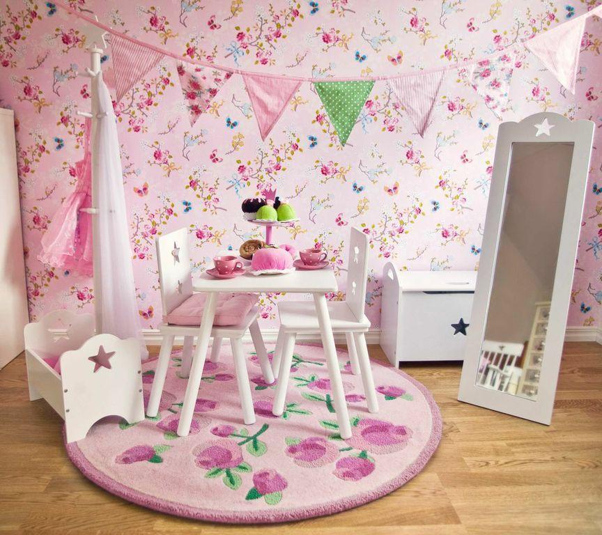 met dit behang van 'pip studio' maak je elke meisjeskamer vrolijk, Deco ideeën