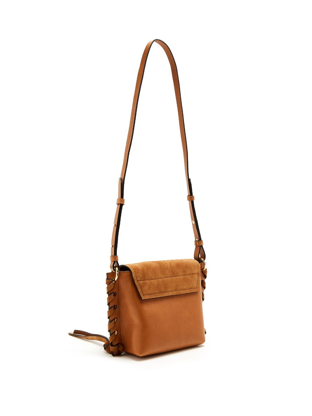 56fe6f885d Kleny suede and leather cross-body bag