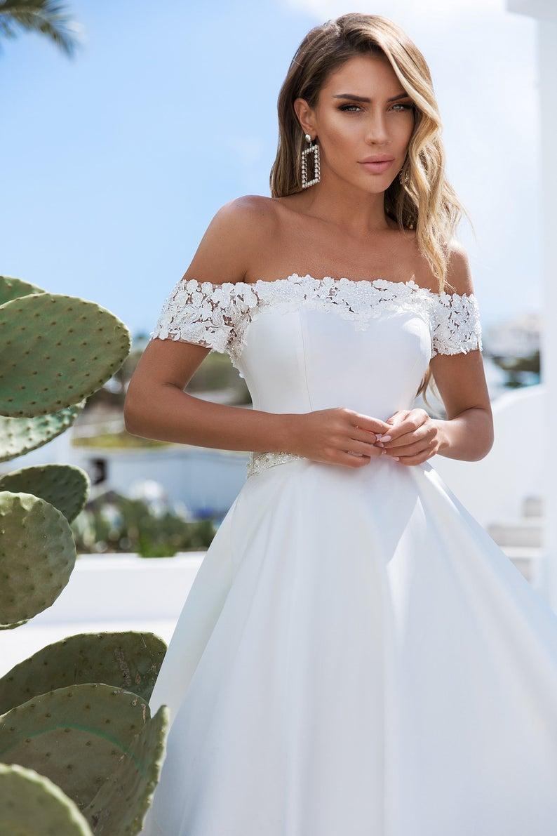 Wedding dress Wedding dress satin Bridal gown Wedd