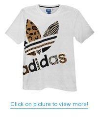 0a07e7c33925d Adidas Originals Men's Trefoil Leopard Zebra Print T-shirt, X-Large,  White/black