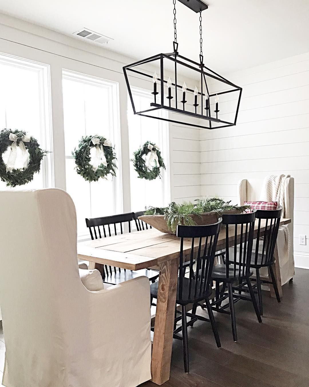 Modernfarmhouse Via Salvagedchicmarket Downlights Dining Area Bench Interior Design Hashtags