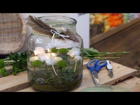 Photo of DIY-Idee: Mini-Teich für den Tisch mit Windlicht und Schwimmkerzen