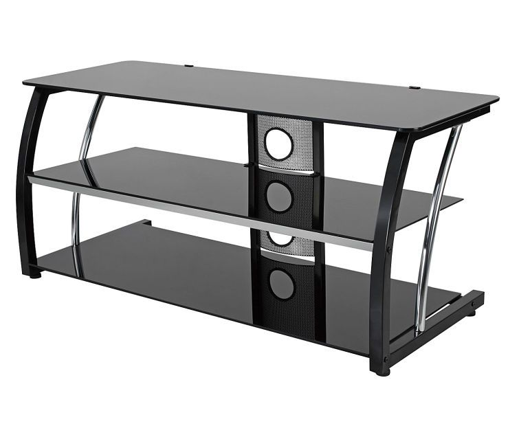 44 Black Glass Tv Stand At Big Lots Black Glass Tv Stand