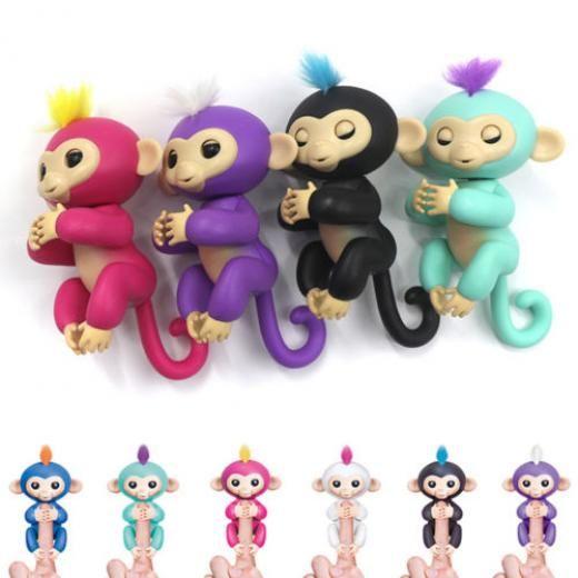 Electronic Interactive Smart Baby Monkey Sound Finger Motion Hanger