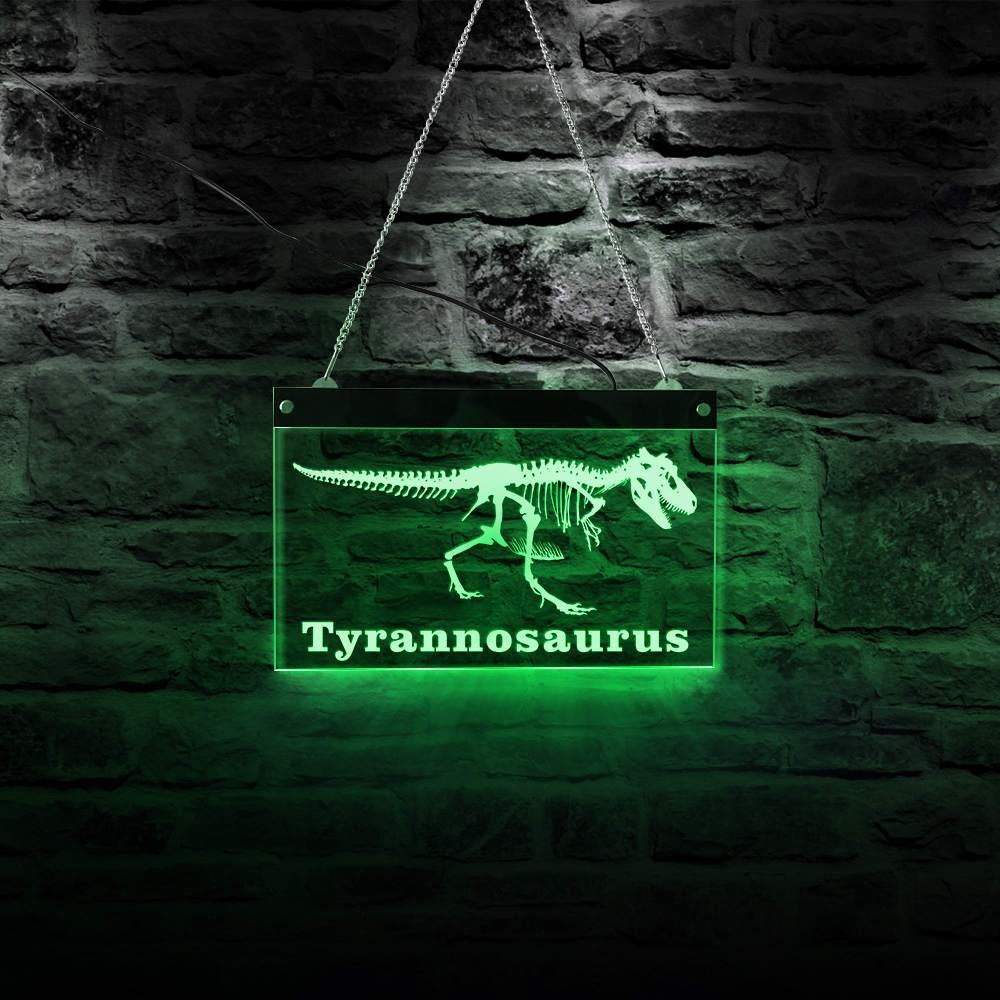 Tyrannosaurus Rex Skeleton LED Neon Sign Museum LED