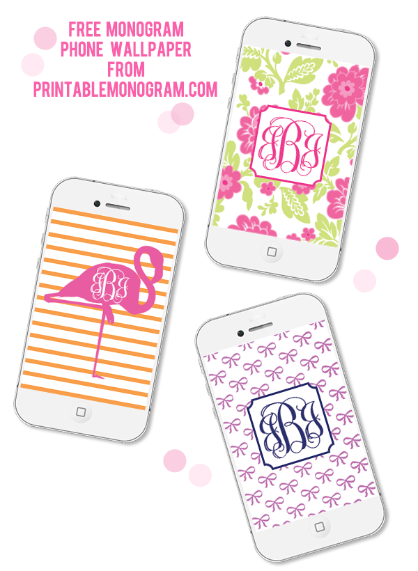 Make Your Own Free Monogram Phone Wallpaper With Our Easy Instructions Monogram Wallpaper Monogram Printable Free Printable Monogram