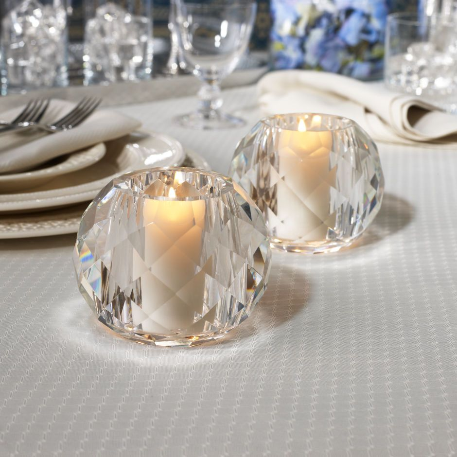 Our beautiful daniela crystal votive is made by skilled artisans and