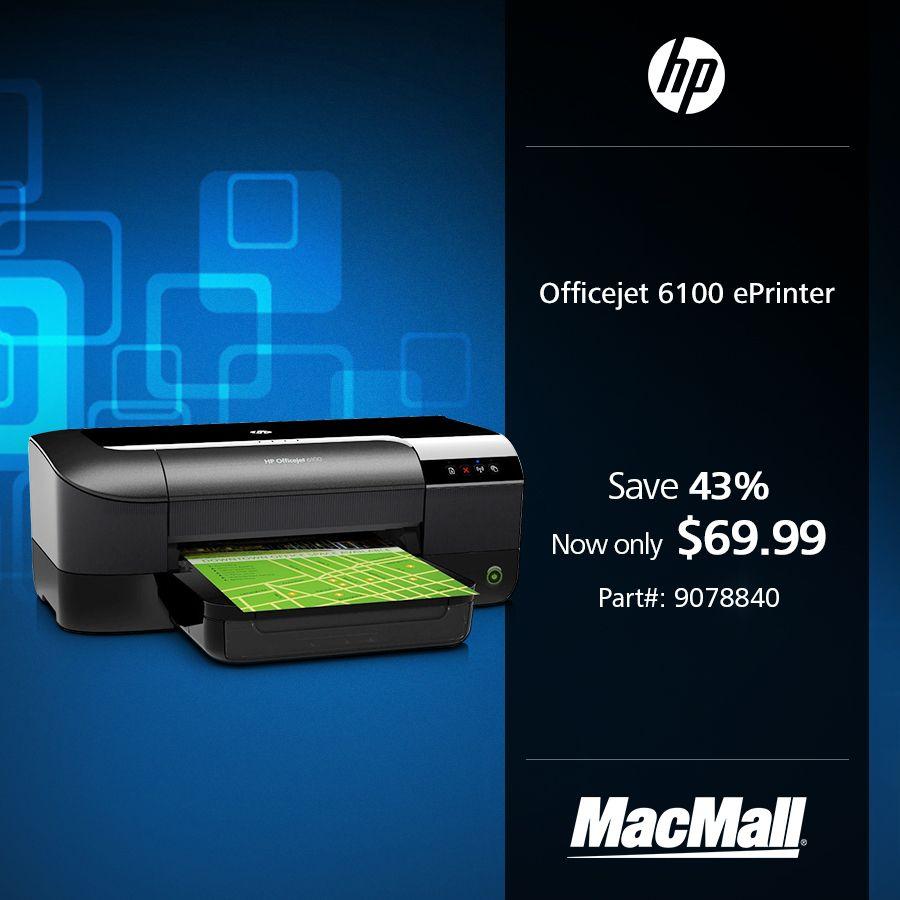 Get Major Savings On An Hp Officejet 6100 Eprinter At Macmall Hp Officejet Inkjet Printer Inkjet