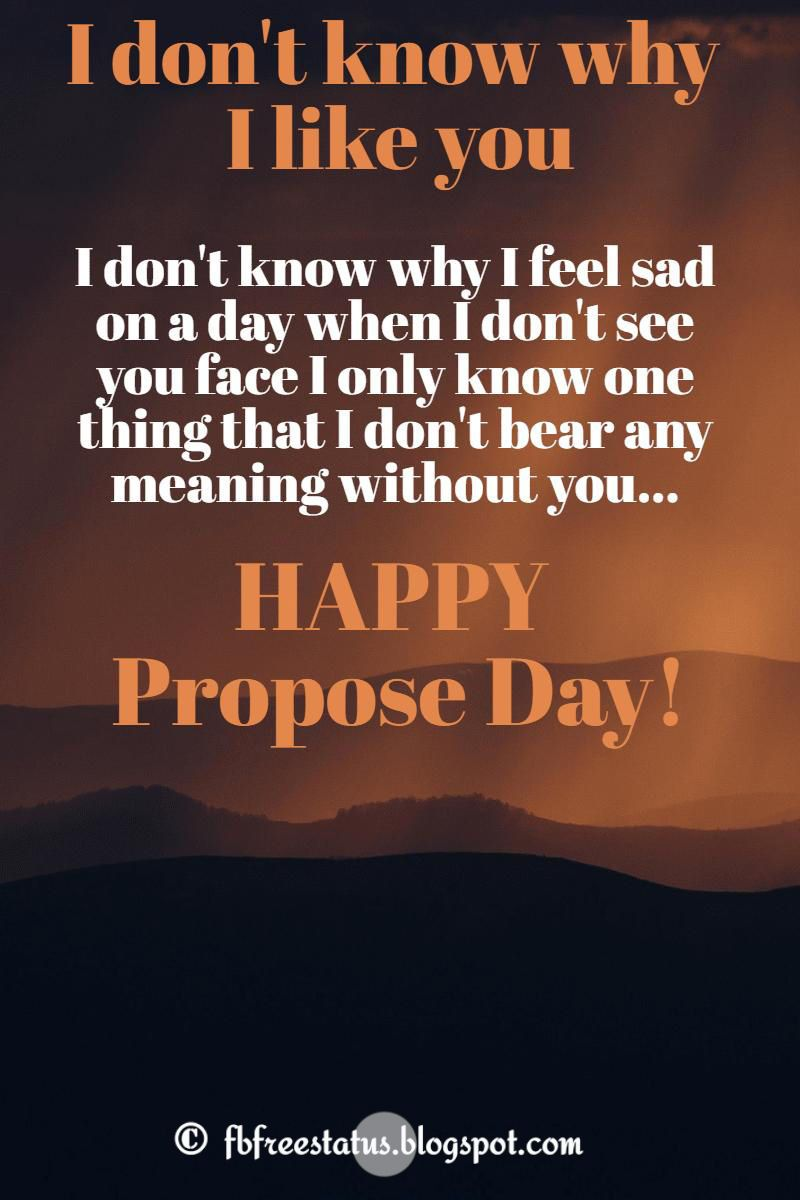 Love Proposal Messages For Propose Day Proposal